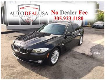 2011 BMW 5 Series for sale in Hallandale, FL