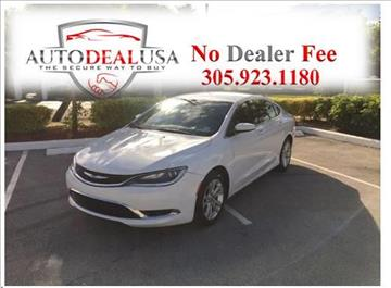 2016 Chrysler 200 for sale in Hallandale, FL