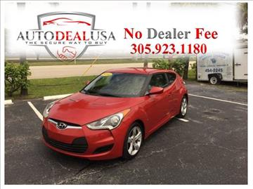 2012 Hyundai Veloster for sale in Hallandale, FL