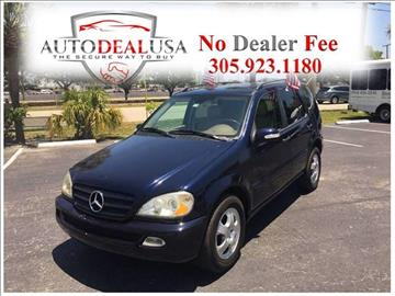 2004 Mercedes-Benz M-Class for sale in Hallandale, FL