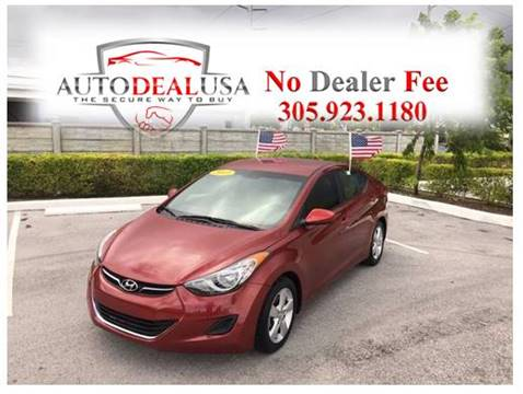 2013 Hyundai Elantra for sale in Hallandale, FL