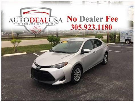 2017 Toyota Corolla for sale in Hallandale, FL