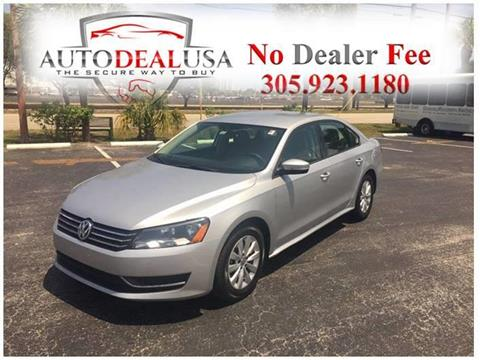 2012 Volkswagen Passat for sale in Hallandale, FL