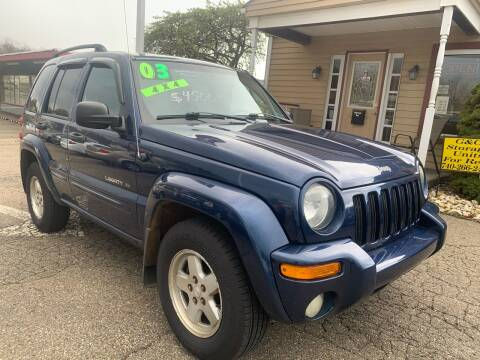 2003 Jeep Liberty Limited for sale at G & G Auto Sales in Steubenville OH