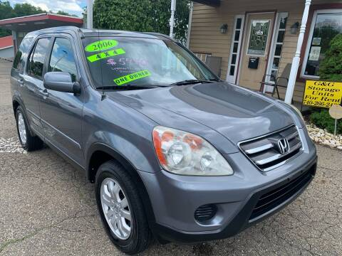 2006 Honda CR-V for sale at G & G Auto Sales in Steubenville OH
