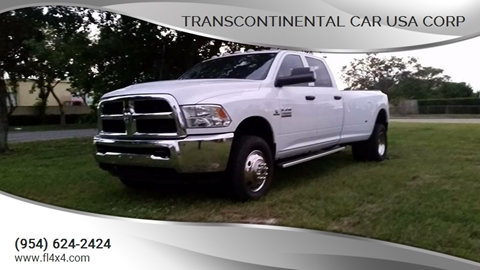 2015 Dodge Truck >> 2015 Dodge Ram Pickup 3500 For Sale In Fort Lauderdale Fl