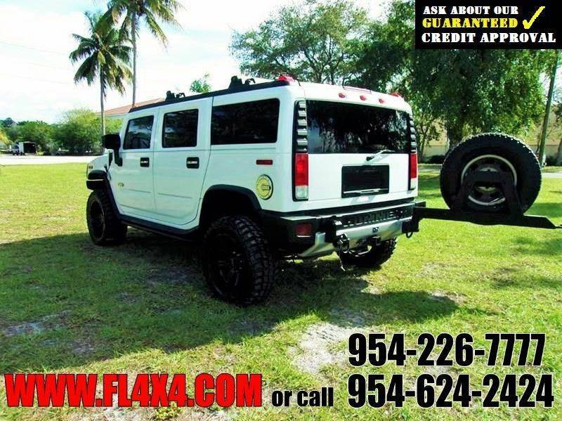 2008 HUMMER H2 4X4 BLACK LEATHER SUNROOF DVD - Fort Lauderdale FL