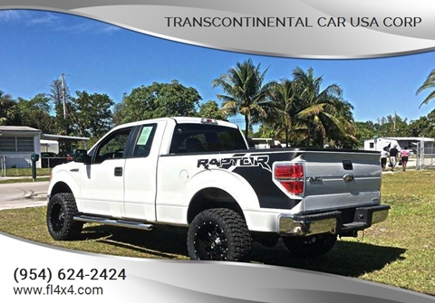 2011 Ford F-150 for sale at Transcontinental Car USA Corp in Fort Lauderdale FL