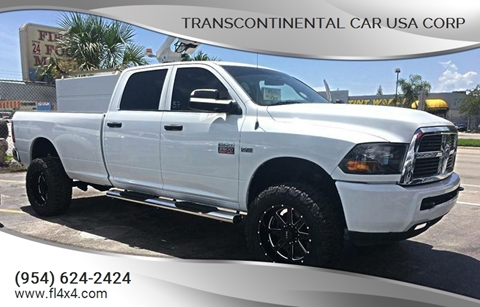2011 Dodge Ram Pickup 2500 for sale at Transcontinental Car USA Corp in Fort Lauderdale FL