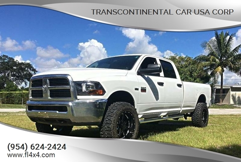 2012 Dodge Ram Pickup 2500 for sale at Transcontinental Car USA Corp in Fort Lauderdale FL