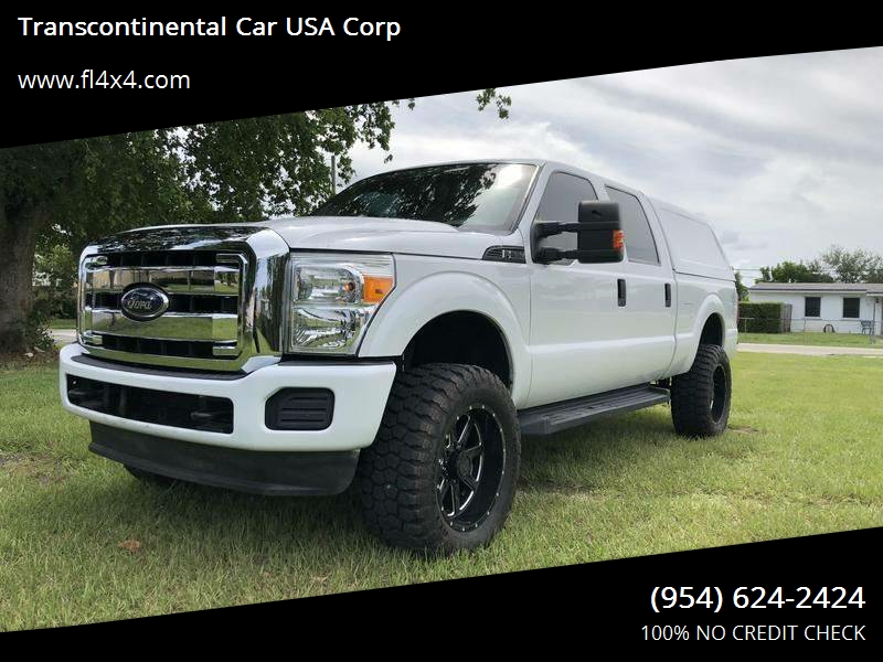 2012 Ford F-250 Super Duty CREW CAB 4X4 SHORT BED LEATHER W