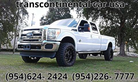 2012 Ford F-350 Super Duty for sale at Transcontinental Car USA Corp in Fort Lauderdale FL