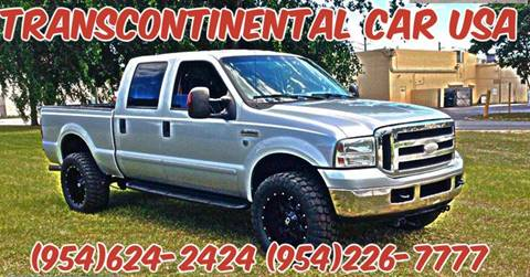 2006 Ford F-350 Super Duty for sale at Transcontinental Car USA Corp in Fort Lauderdale FL