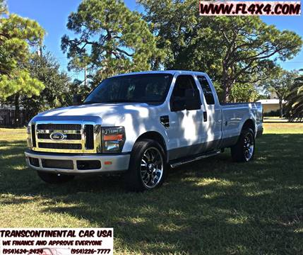 2008 Ford F-250 Super Duty for sale at Transcontinental Car USA Corp in Fort Lauderdale FL