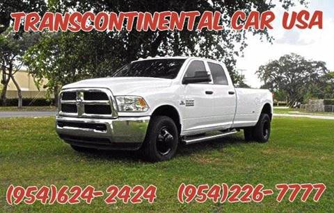 2014 RAM Ram Pickup 3500 for sale at Transcontinental Car USA Corp in Fort Lauderdale FL