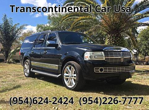 2007 Lincoln Navigator L for sale at Transcontinental Car USA Corp in Fort Lauderdale FL