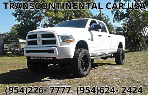 2010 Dodge Ram Pickup 2500 for sale at Transcontinental Car USA Corp in Fort Lauderdale FL