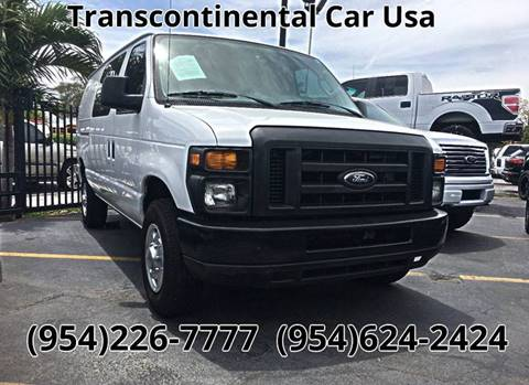 2010 Ford E-Series Cargo for sale at Transcontinental Car USA Corp in Fort Lauderdale FL