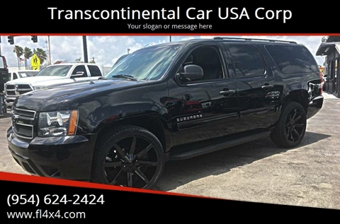 2010 Chevrolet Suburban for sale at Transcontinental Car USA Corp in Fort Lauderdale FL
