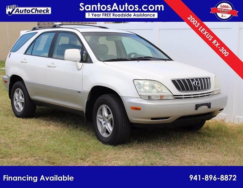 2003 Lexus RX 300 For Sale At Santos Autos LLC In Bradenton FL