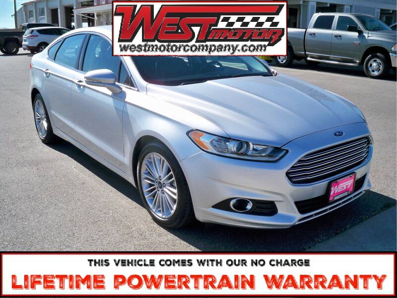 2016 Ford Fusion for sale at West Motor Company in Hyde Park UT