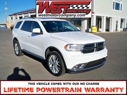 2016 Dodge Durango for sale at West Motor Company in Hyde Park UT