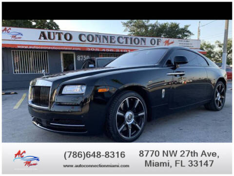 2016 Rolls-Royce Wraith for sale at 1000 Cars Plus Boats - Lot 9 in Miami FL
