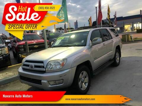 2005 Toyota 4Runner for sale at 1000 Cars Plus Boats - Lot 15 in Hialeah FL