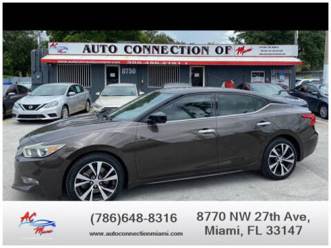 2016 Nissan Maxima for sale at 1000 Cars Plus Boats - Lot 9 in Miami FL