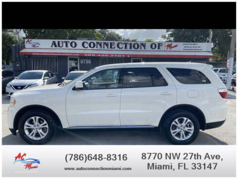 2012 Dodge Durango for sale at 1000 Cars Plus Boats - Lot 9 in Miami FL