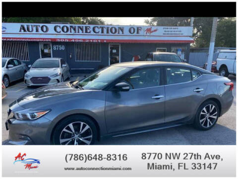 2017 Nissan Maxima for sale at 1000 Cars Plus Boats - Lot 9 in Miami FL