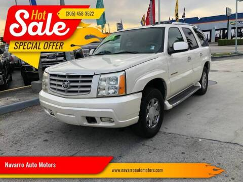 2004 Cadillac Escalade for sale at 1000 Cars Plus Boats - Lot 15 in Hialeah FL
