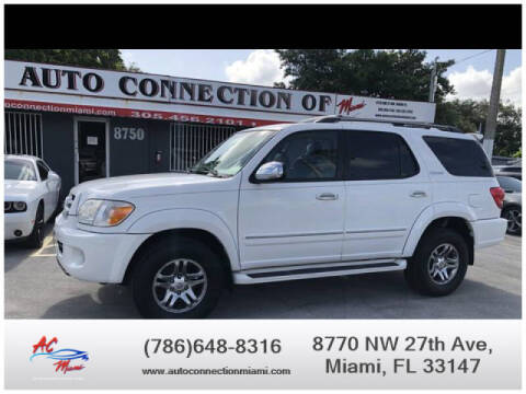 2007 Toyota Sequoia for sale at 1000 Cars Plus Boats - Lot 9 in Miami FL