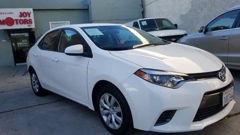 2016 Toyota Corolla for sale at Joy Motors in Los Angeles CA