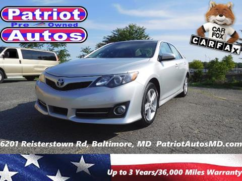 2013 Toyota Camry for sale in Baltimore MD