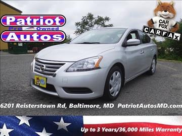 2013 Nissan Sentra for sale in Baltimore, MD