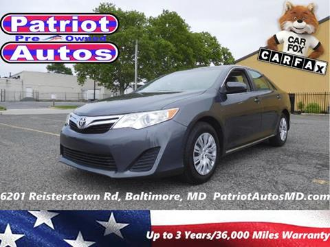 2012 Toyota Camry for sale in Baltimore MD