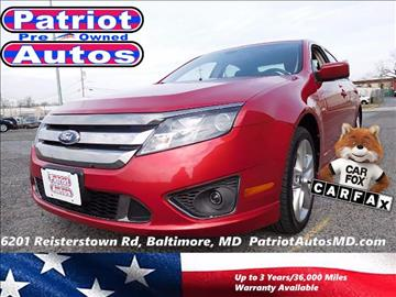 2012 Ford Fusion for sale in Baltimore, MD