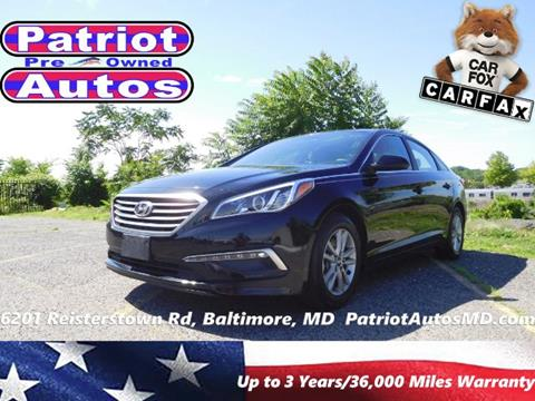 2015 Hyundai Sonata for sale in Baltimore MD