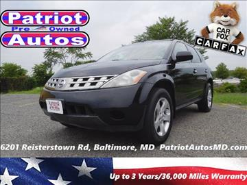 2005 Nissan Murano for sale in Baltimore, MD