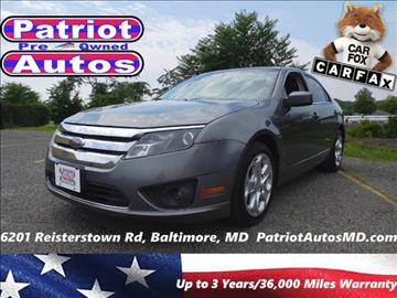 2010 Ford Fusion for sale in Baltimore, MD