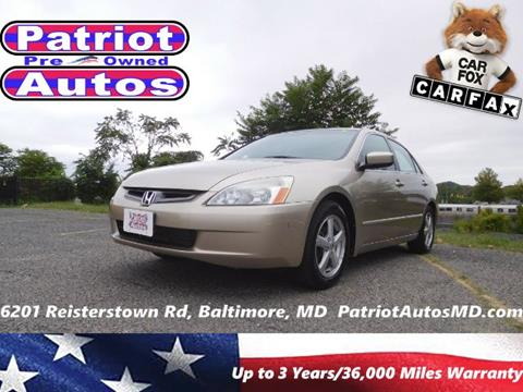 2003 Honda Accord for sale in Baltimore, MD