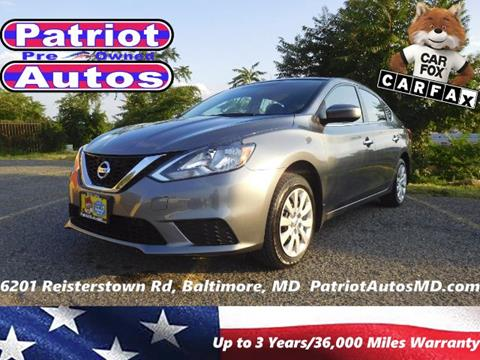 2016 Nissan Sentra for sale in Baltimore MD