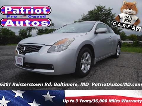 2008 Nissan Altima for sale in Baltimore MD