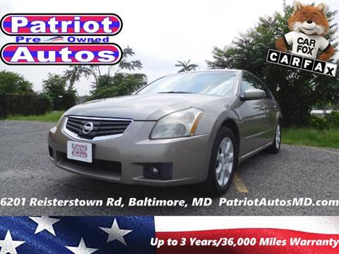 2007 Nissan Maxima for sale in Baltimore MD
