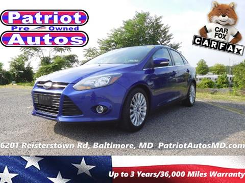 2012 Ford Focus for sale in Baltimore MD