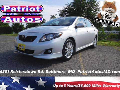 2009 Toyota Corolla for sale in Baltimore, MD