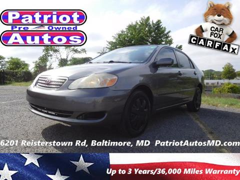 2007 Toyota Corolla for sale in Baltimore, MD