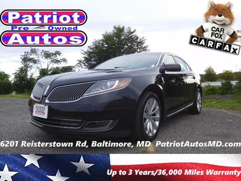 2013 Lincoln MKS for sale in Baltimore MD