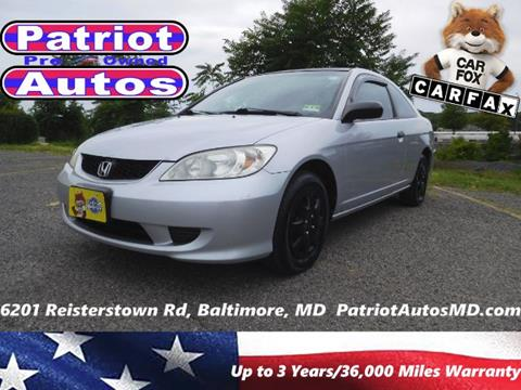 2004 Honda Civic for sale in Baltimore MD